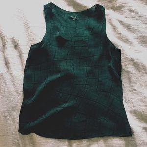 RAG & BONE Silk Emerald Green Top